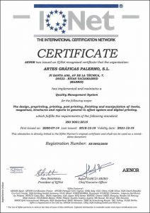 IQNET_ISO 9001 INGLES 2018_ARTES_GRAFICAS_PALERMO
